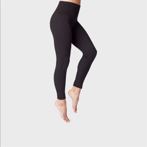 Women's high waisted French terry lined leggings
